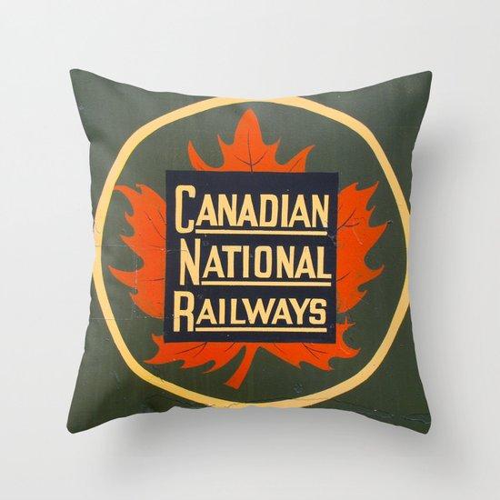 Canadian National Railways Throw Pillow