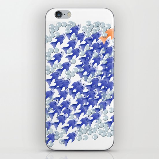 100 fishes iPhone & iPod Skin