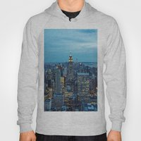 NYC Skyline A Night Hoody