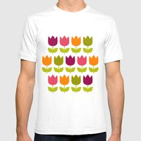 Flower Patch Mens Fitted Tee White SMALL