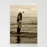 A Boy And The Sea Stationery Cards