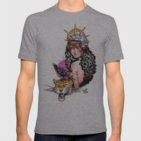 Gitana Mens Fitted Tee Athletic Grey SMALL