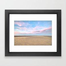 Sparse Beach Framed Art Print