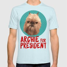 Archie for President Mens Fitted Tee Light Blue SMALL