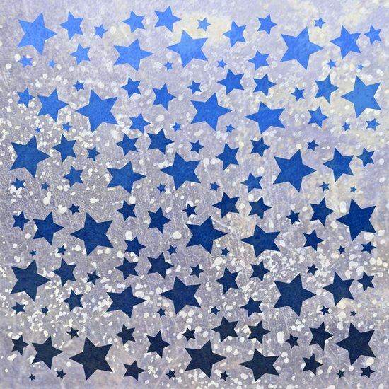 All Stars...(in blue) Art Print