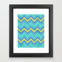 Rick Rack Ocean Framed Art Print