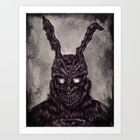 Donnie Darko - ballpoint pen and watercolor Art Print