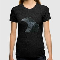 Raven Croft 2 Womens Fitted Tee Tri-Black SMALL