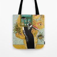Marilyn meets Van Gogh Sunflowers Tote Bag