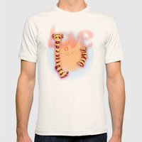 love socks Mens Fitted Tee Natural SMALL
