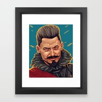 Blackbeard Framed Art Print