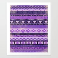 Native Spirit (Purple) Art Print