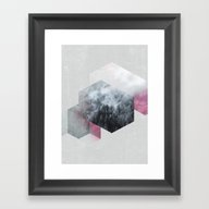 Exagonal Winter Framed Art Print