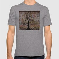 Graffiti Tree Mens Fitted Tee Athletic Grey SMALL