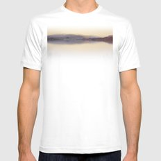 Morning on the Columbia SMALL White Mens Fitted Tee