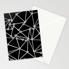 Abstract Heart Zoom Black Stationery Cards