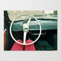 From Behind The Wheel - … Canvas Print