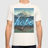 HOPE (1 Corinthians 13:13) Mens Fitted Tee Natural SMALL