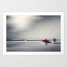 RED surfBoard 16 Art Print