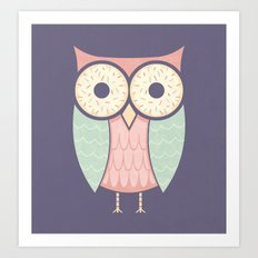 Owl Have Doughnuts Art Print