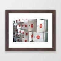 Lockers Framed Art Print