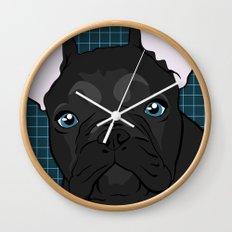 Black Frenchie Wall Clock