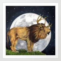 Lion Hart Art Print