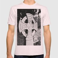 Celtic grave Mens Fitted Tee Light Pink SMALL