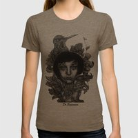 Nature By Davy Wong Womens Fitted Tee Tri-Coffee SMALL