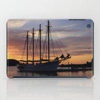 Schooner At Sun Rise iPad Case