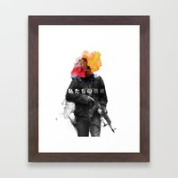 Unkown Soldier Framed Art Print