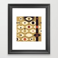 Framed Art Print featuring Divisions - Part II by Zara Picken