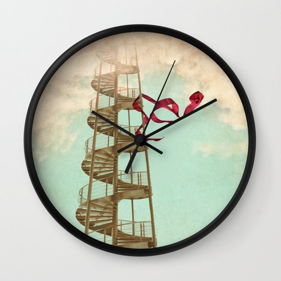 Stair way to nowhere Wall Clock