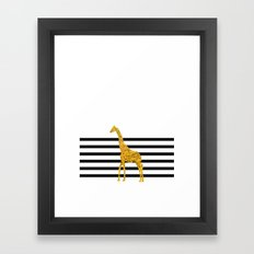 Gold Giraffe Framed Art Print