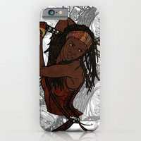 iPhone & iPod Case featuring Michonne by Armani jane