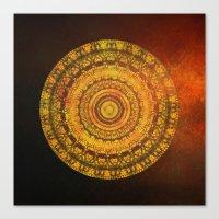 Golden Sun Mandala 2 Canvas Print