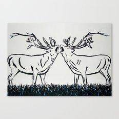 Two Caribou  Canvas Print