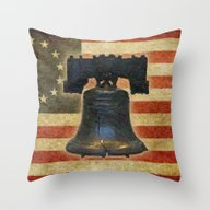 Throw Pillow featuring Liberty by Lazy Bones Studios