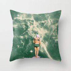 Space Olympics Throw Pillow