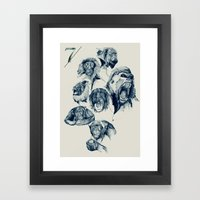 Seven Monkeys Framed Art Print