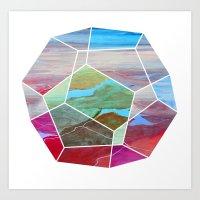 Geometric Birdseye Art Print