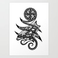Shoulder Band Tattoo  Art Print
