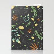 Floral Grey Pattern Stationery Cards