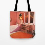 Tote Bag featuring HOT LAVA by Beth Hoeckel Collage…