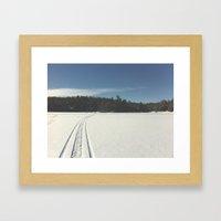Skidoo on lake Framed Art Print