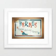 Hermes Special Delivery Service Framed Art Print