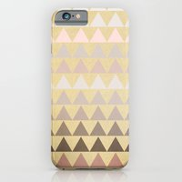 iPhone Cases featuring Muted Triangles by Sandra Arduini
