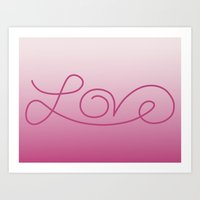 Love Calligraphy Print -… Art Print