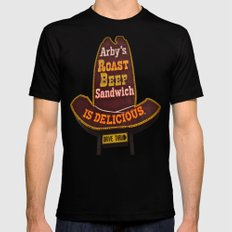 Arby's Americana SMALL Black Mens Fitted Tee