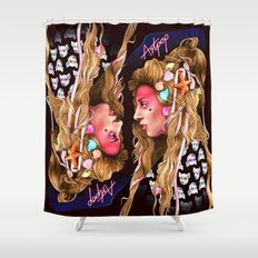 Neon Artpop Shower Curtain